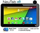 NeuTab 9'' Dual Core Google Android 4.2 Jelly Bean 8GB Tablet PC, Rockchip Dual Core, Quad Core GPU, Multi-Touch Screen, Dual Camera, Google Play Pre-loaded, 3D-Game Supported - N9