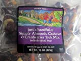 Trader Joes Just A Handful of Simply The Best Almonds, Cashews & Cranberries Trek Mix 10 Individual Bags