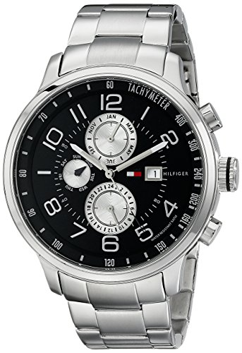 Tommy-Hilfiger-Mens-1790860-Stainless-Steel-Watch-with-Link-Bracelet