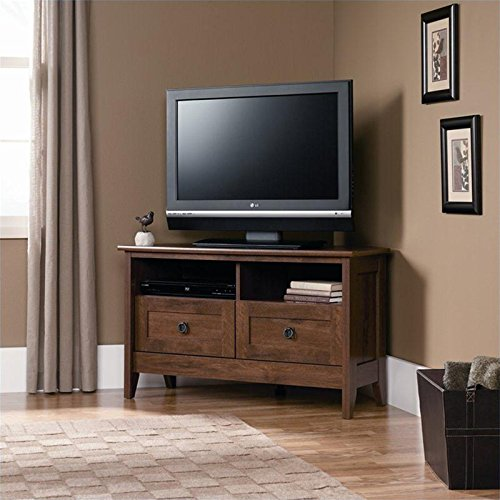 Sauder August Hill Corner Entertainment Stand, Oiled Oak Finish picture