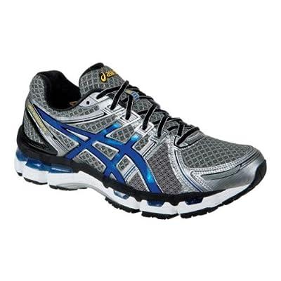 ASICS Men's GEL-Kayano 19 Running Shoe,Titanium/Royal/Black,11 M US