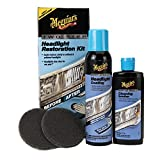 Meguiar's Two Step Headlight Restoration Kit – Restore Headlights to Crystal Clear Finish– G2970