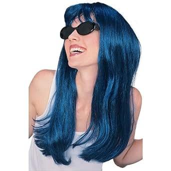Blue Long Super Model Wig