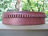 "48"" Brown Genuine Leather .22 Caliber Cartridge Gun Belt"