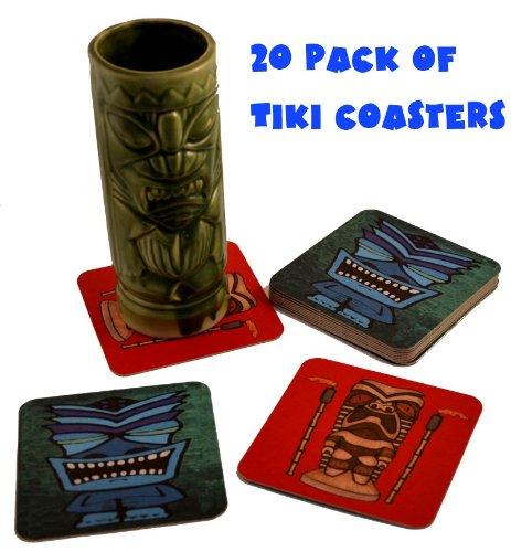 20 Tiki Bar Hawaiian Drink Cocktail Coasters