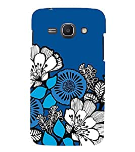 ANIMATED DUAL COLOURS FLOWERS PATTERN 3D Hard Polycarbonate Designer Back Case Cover for Samsung Galaxy Ace 3 :: Samsung Galaxy Ace 3 S7272