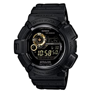 Casio Mens G-Shock Scorpion - Limited Edition Black with Gold- Accents