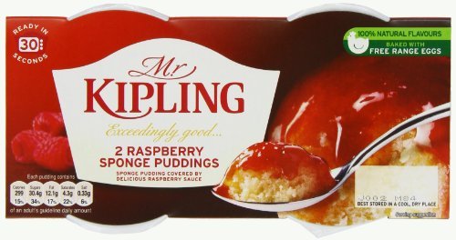 Mr Kipling Exceedingly Good 2 Raspberry Puddings 85 g (Pack of 8)