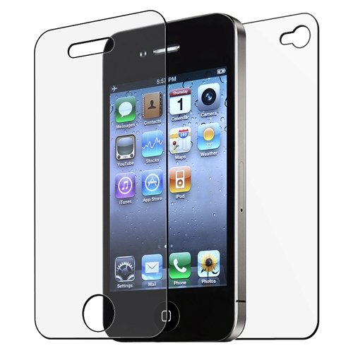 FRONT BACK ANTI-GLARE SCREEN PROTECTOR Compatible With iPhone® 4 4G iPhone® 4S - AT&T, Sprint, Version 16GB 32GB 64GB