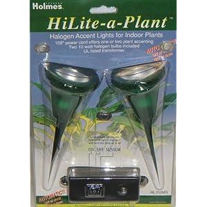 HiLite-A-Plant Halogen Accent Light for Plants - Auto On/Off Sensor
