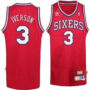 Philadelphia 76ers #3 Allen Iverson NBA Soul Swingman Jersey, Red by adidas