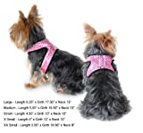 Sparkle Pet Harness with Leash - Pink - Small