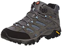 Merrell Moab Mid GoreTex Womens Walking Shoes 6.5 M US Grey
