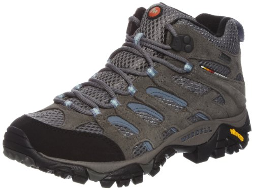 Merrell Womens Moab Mid GTX XCR Athletic Hiking Boot Grey/Periwinkle J87112 41 EU / 7.5 UK