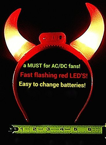 Light Up Bright Red FLASHING LED Devil Horns! - GREAT for Halloween!