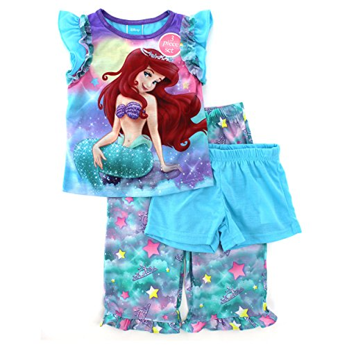 Little Mermaid Ariel Girls 3 pc Pajamas Set (6)