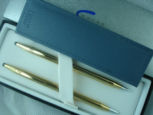 Cross Classic Century 14k Gold Filled /Rolled Gold Ball Pen and 0.9MM Pencil