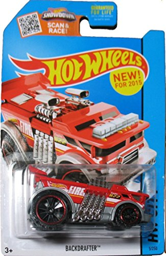 Hot Wheels, 2015 HW City, Backdrafter Fire Truck [Red] Die-Cast Vehicle #5/250