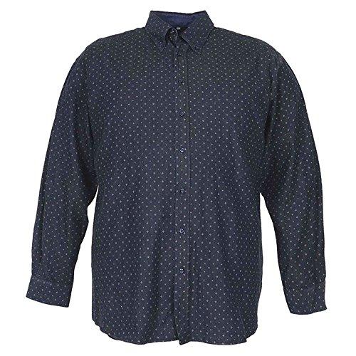 Camicia taglie forti uomo manica lunga Maxfort LAMBRATE chambray - Blu scuro, 3XL
