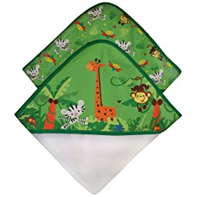Fisher Price Rainforest Hooded Towel Set 2-Pack