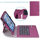 MoKo Fire HD 10 2015 Keyboard Case - Wireless Bluetooth Keyboard Cover with Auto Wake / Sleep for Amazon Kindle Fire HD 10 Inch Display Tablet (2015 Release Only), PURPLE