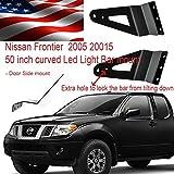 NISSAN Frontier 2006 2016 led light bar brackets for 50 inch curved side mount