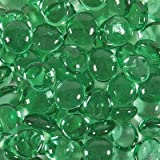 Dashington® 5 Pounds- Flat Green Glass Marbles for Vase Filler, Table Scatter, Aquarium Decor