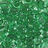 Dashington® 5 Pounds- Flat Green Glass Marbles for Vase Filler, Table Scatter, Aquarium Decor