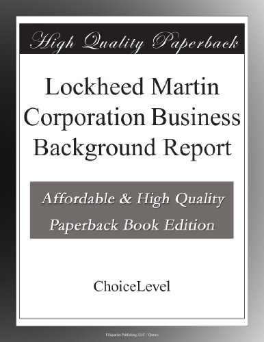 lockheed-martin-corporation-business-background-report