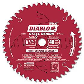 "Freud Diablo D0648F 6-1/2"" x 48-Tooth Steel Demon TCG Ferrous Cutting Circular Saw Blade 5/8"" Arbor"