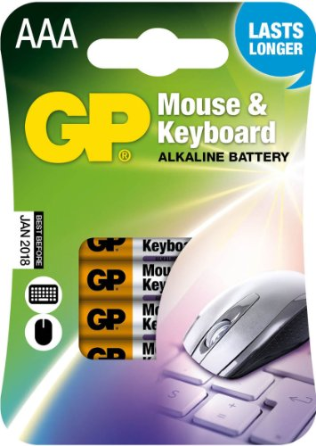 GP Battery 03024MKC4 souris / clavier Alkaline APC (AAA, Micro 4-pack)