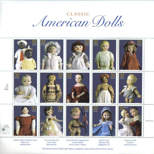 1997 CLASSIC AMERICAN DOLLS #3151 Pane of 15 x 32 cents US Postage Stamps