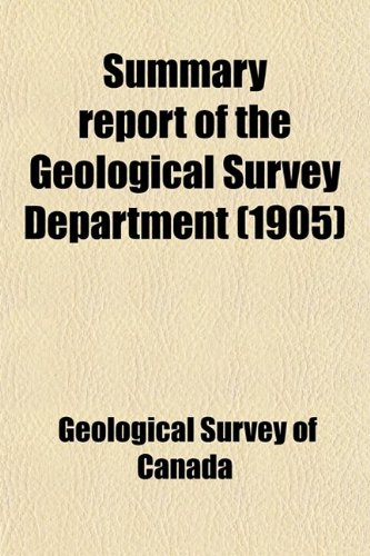 Summary report of the Geological Survey Department