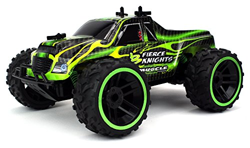 Fierce Knight Pickup Remote Control RC Truck 2.4 GHz PRO System 1:16 Scale Size RTR w/ Working Suspension, Spring Shock Absorbers (Colors May Vary) (Remote Trucks compare prices)