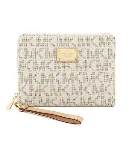 Michael Kors Vanilla Pvc Multifunction Tablet Case