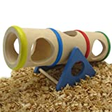 Alfie Pet by Petoga Couture - Small Animal Playground - Karo Cylinder Wooden Seesaw (Toy for Mouse and Dwarf Hamster)