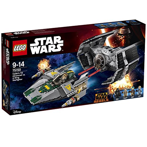 TIE Advanced of Lego Star Wars Darth Vader vs A wing starfighter 75150