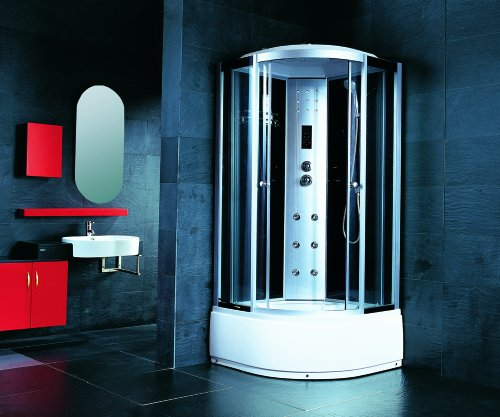 Luxury Steam Shower Cubicle With a Small Tub