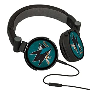NHL San Jose Sharks Washed Logo Headphones by Pangea Brands