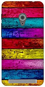 The Racoon Grip Pastel Wood hard plastic printed back case for Asus Zenfone 4 A450CG