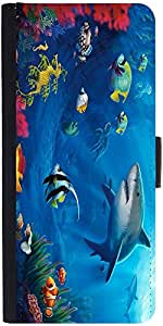 Snoogg Underwater Life 2727 Designer Protective Phone Flip Case Cover For Lenovo Vibe X2