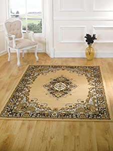 Element Lancaster Beige Contemporary Rug Rug Size: 110cm x 60cm (3 ft 7.5 in x 1 ft 11.5 in) from Flair Rugs