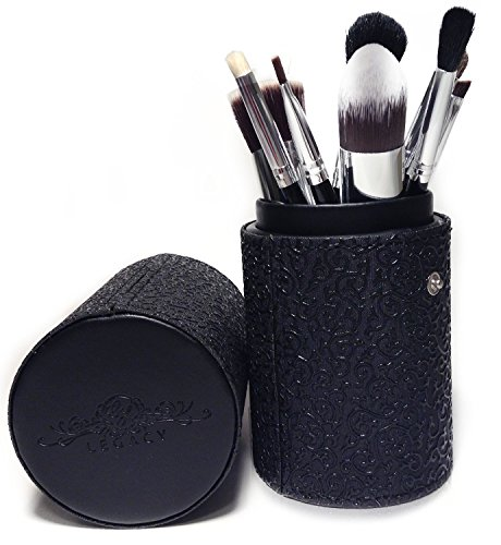 Best Makeup Brush Set Professional 10 Piece Cosmetic Tool Kit with Kabuki & Concealer Brushes, Bonus Travel Case and Gift Box (Mac Pink Split Eye Shadow compare prices)