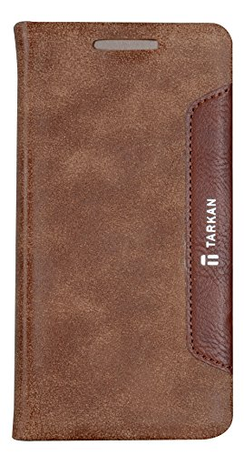 Tarkan Authentic Smart PU Leather Magnetic Flip Case Cover with Convertible Back Stand For HTC Desire 626G Plus (626G+) - Brown