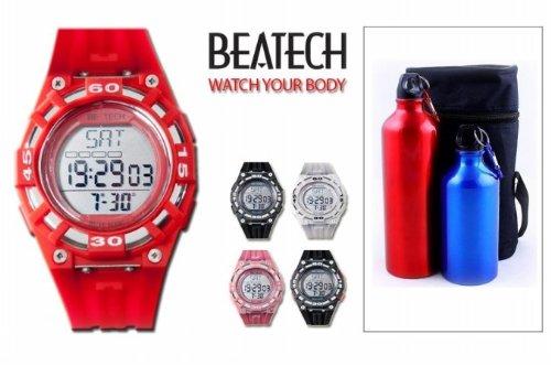 Cheap Sopra Beatech BH5000R FL55 Beatech Heart Rate Monitor-Alarm clock-Stopwatch-Countdown Timer Watch with Aluminum Camping Bottle Set (Beatech BH5000R + FL55)