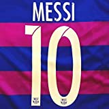 ≪メール便≫子供用 K003 バルセロナHOME MESSI*10 メッシ 2016 青赤 ゲームシャツ パンツ付
