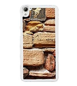 Brown Rocks Wall 2D Hard Polycarbonate Designer Back Case Cover for HTC Desire 826 Dual Sim