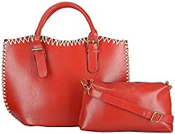 Moda King Women's Handbags (Red) (ModaKing017)