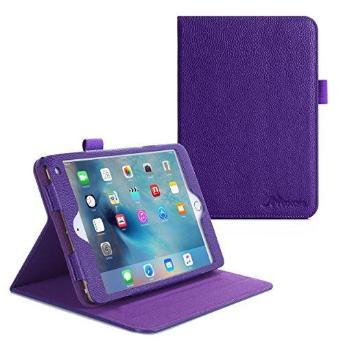 iPad Mini 4 Case, roocase Dual View Pro iPad Mini 4 Multi-Viewing Stand Folio Case Smart Cover for Apple iPad Mini 3 (2015), Purple (Mini Dv Case compare prices)