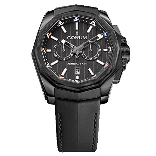 Corum Admiral's Cup AC-One 45 Homme 45mm Bracelet Cuir Noir Automatique Montre 116,101,36/OF61 AN20